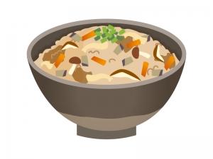 炊き込みご飯のイラスト