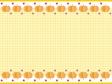 ハロウィン・かぼちゃと星の上下フレーム・枠素材