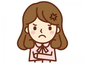 怒っている女性のイラスト
