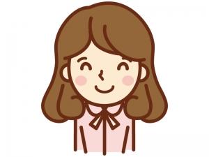 笑顔で喜ぶ女性のイラスト