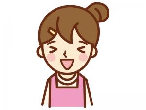 嬉しい表情の主婦のイラスト