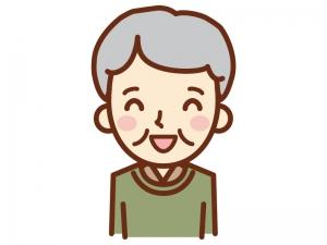 満面な笑顔のおじいちゃんのイラスト