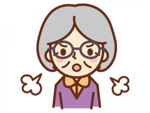 怒っているおばあちゃんのイラスト