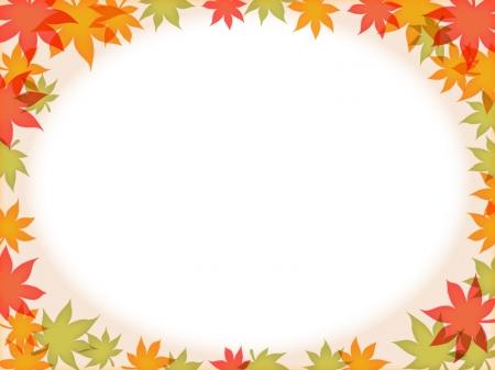 もみじ・紅葉・秋のフレーム枠イラスト素材04