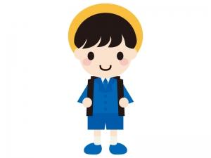 ピカピカの小学一年生(男の子)イラスト