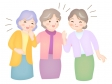 中高年女性のおしゃべりのイラスト