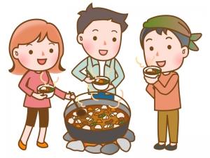 芋煮会のイラスト