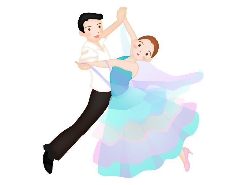 社交ダンスをしているイラスト