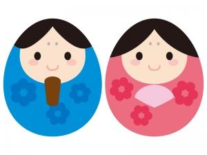 ひな祭り・かわいいお雛さま・お内裏様のイラスト02