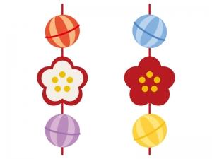 ひな祭り・吊るし雛のイラスト