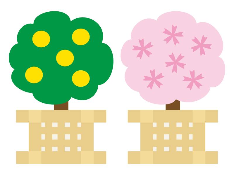 桜橘・雛祭りのイラスト