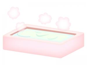 お風呂・バスタブのイラスト