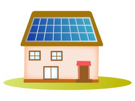 太陽光パネルが設置された家のイラスト02