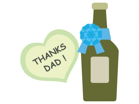 父の日・お酒のプレゼントのイラスト