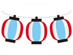 夏祭り・提灯のイラスト
