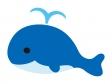 かわいいクジラ(鯨)のイラスト