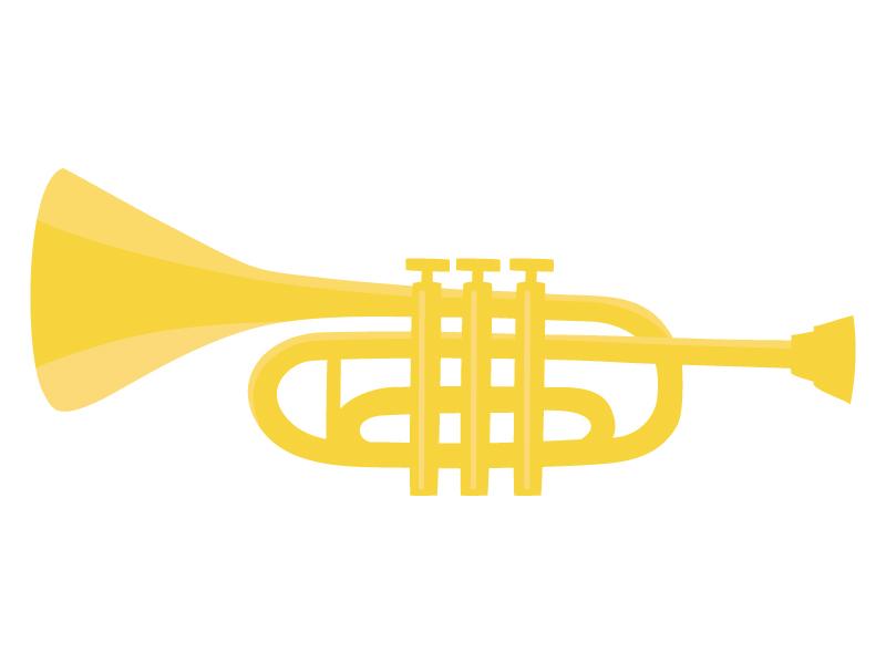 楽器・トランペットのイラスト