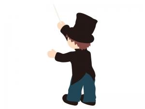 音楽・指揮者のイラスト