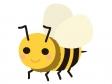 かわいいミツバチのイラスト