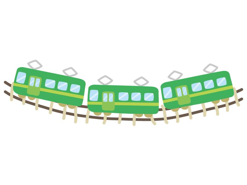 ローカル電車・鉄道のイラスト
