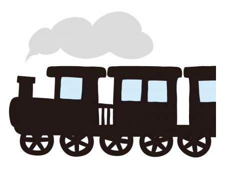 手書き風の機関車・SLのイラスト