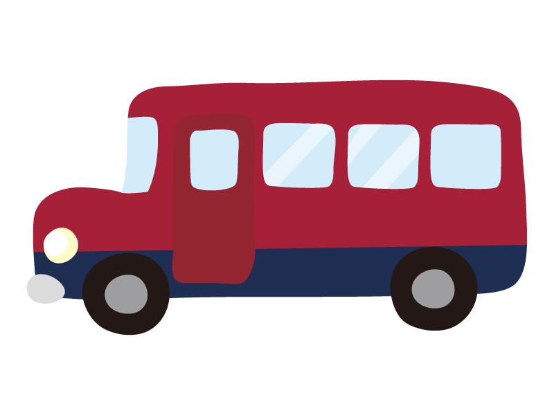 アンティークなバスのイラスト