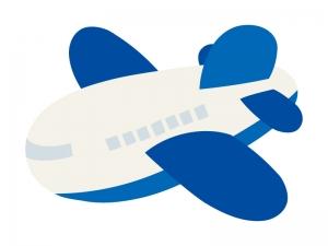 かわいい飛行機のイラスト