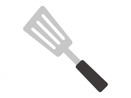 フライ返し・キッチン台所用品のイラスト02