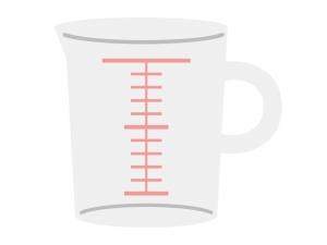 計量カップのイラスト02