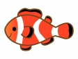赤と白のしましま模様の魚・カクレクマノミのイラスト