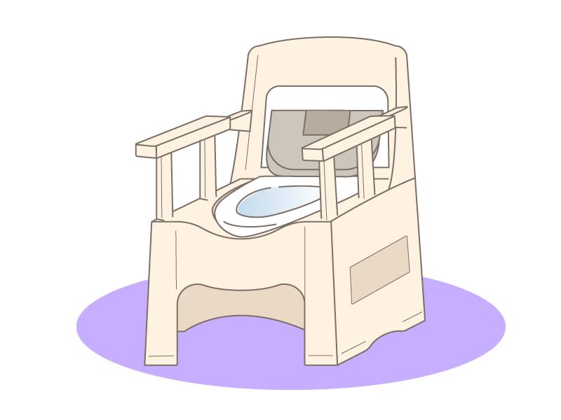 ポータブルトイレのイラスト