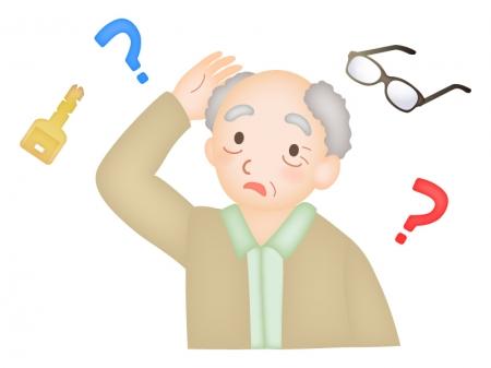 物忘れ・認知症のお年寄りのイラスト