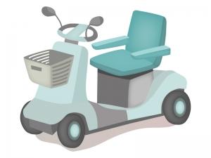 電動シニアカーのイラスト