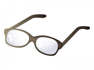 黒縁メガネのイラスト02