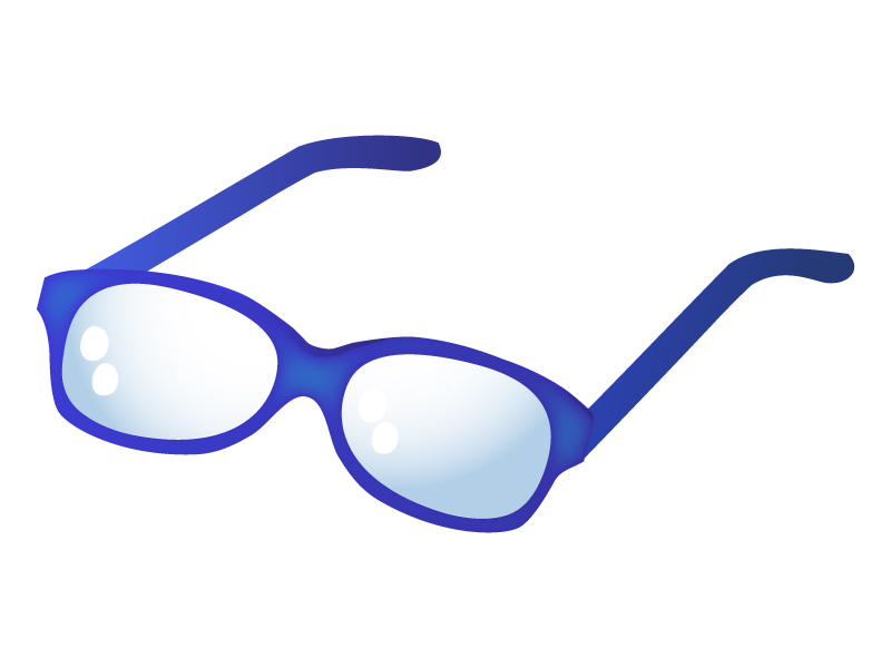 青縁メガネのイラスト