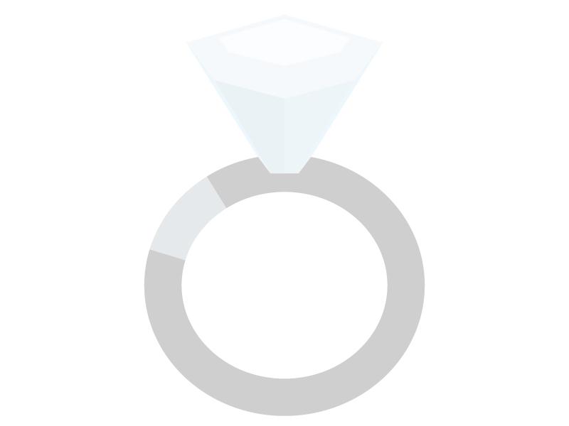 ダイヤモンドの指輪のイラスト