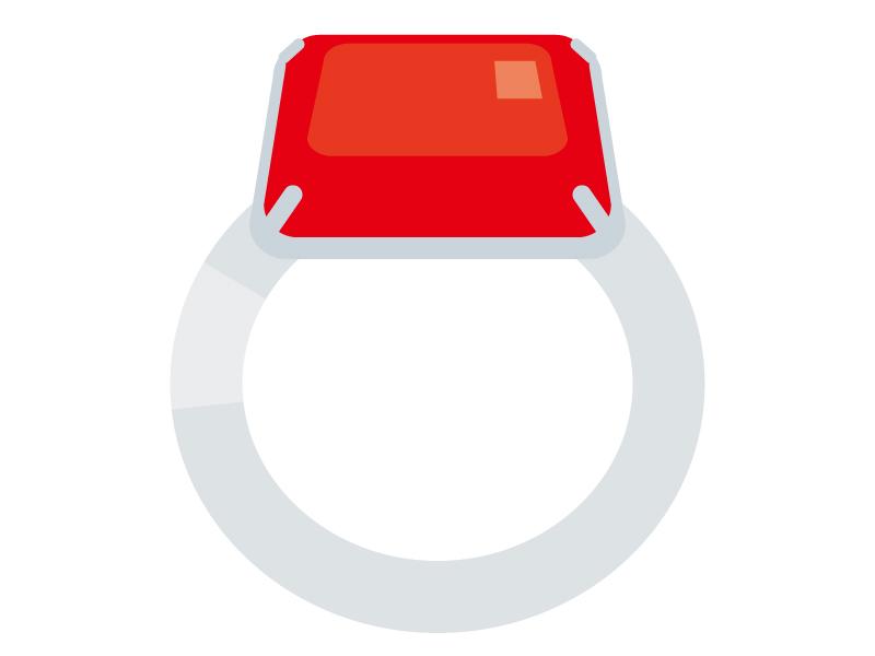 ルビーの指輪のイラスト