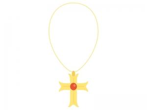 十字架・クロスのネックレスのイラスト