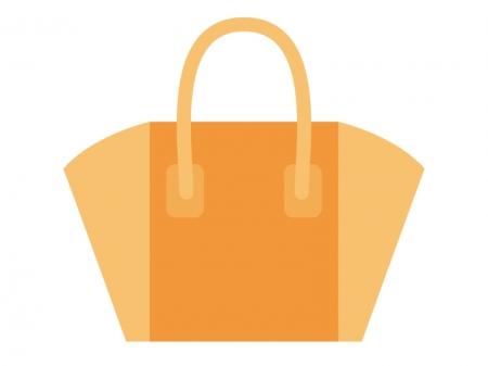 オレンジ色のトートバッグ・カバンのイラスト