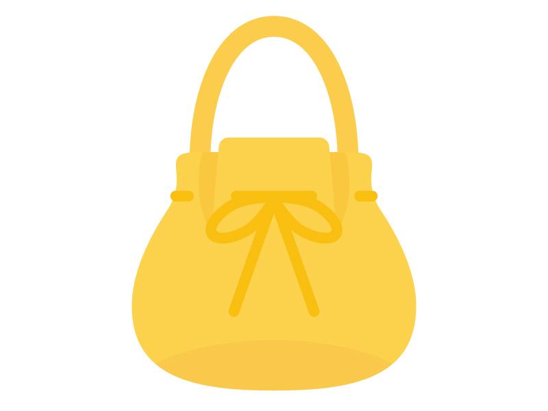 女性用の巾着バッグのイラスト