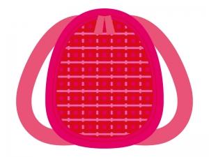 ピンク色のかわいいリュックのイラスト