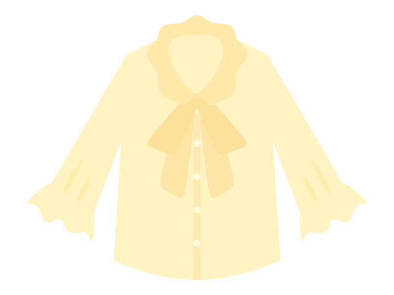 黄色いブラウスのイラスト