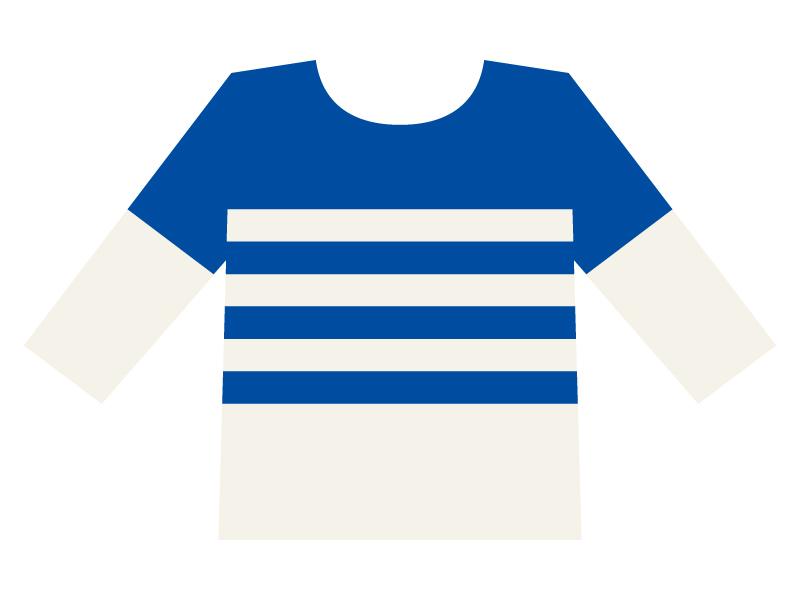 カットソー・長袖シャツのイラスト