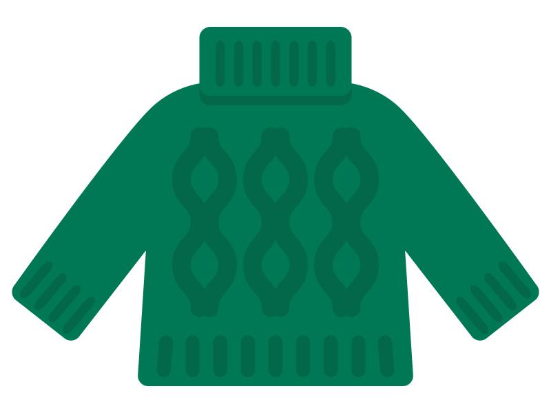 ハイネックのセーターのイラスト