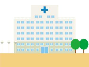 総合病院の建物のイラスト