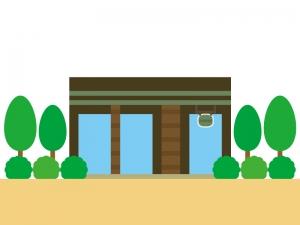 コーヒーショップのイラスト
