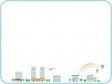 飛行機と虹と街並みのフレーム・枠イラスト