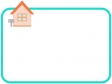 シンプルな家のフレーム・枠イラスト