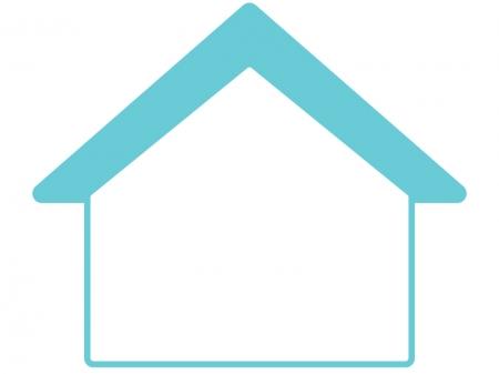 家形のフレーム・枠イラスト
