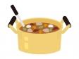 大鍋に入った芋煮のイラスト